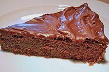 Schwedischer Schokoladenkuchen - klebrig