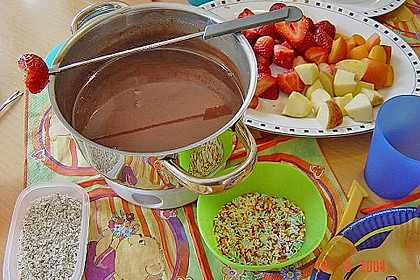Schokoladen - Obst - Fondue 0