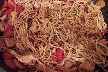 Asiatisch gebratene Nudeln süß - scharf, vegetarisch 20