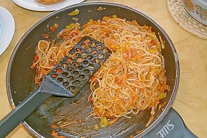 Asiatisch gebratene Nudeln süß - scharf, vegetarisch 27
