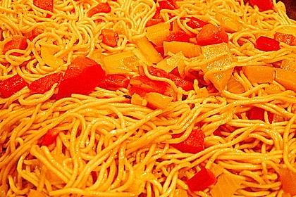 Asiatisch gebratene Nudeln süß - scharf, vegetarisch 35