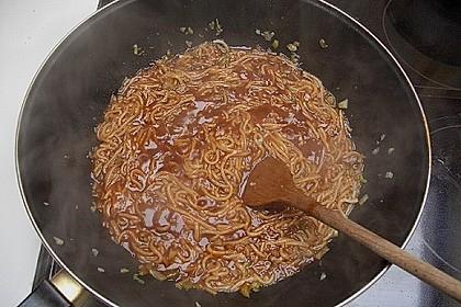 Asiatisch gebratene Nudeln süß - scharf, vegetarisch 32