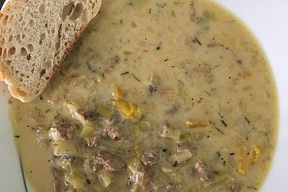 Hack-Käse-Porree-Suppe 14