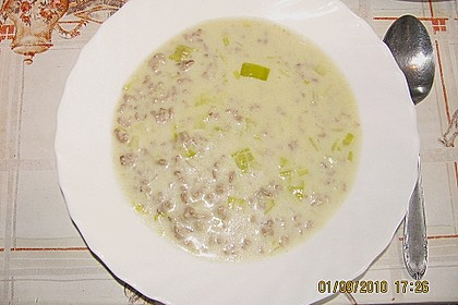 Hack-Käse-Porree-Suppe 3