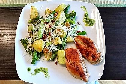 Grüner Spargel und neue Kartoffeln mit Bärlauch - Pesto 2
