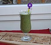 Grüner Smoothie mit Granatapfel