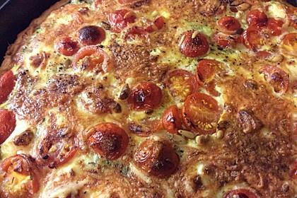 Quiche mit Spinat, Feta, Tomaten und Pinienkernen 18