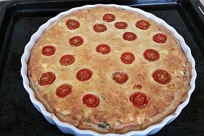 Quiche mit Spinat, Feta, Tomaten und Pinienkernen 22