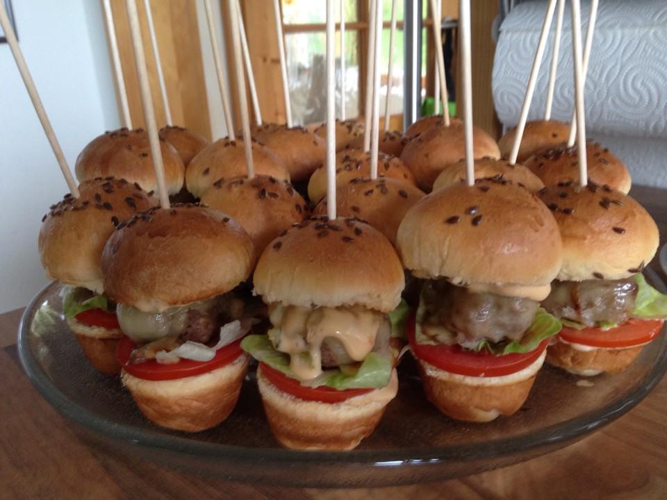 mini burger rezept mit bild von cataya. Black Bedroom Furniture Sets. Home Design Ideas