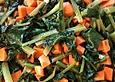Blattspinat-Süßkartoffel-Gemüse