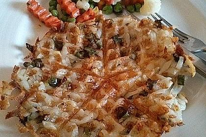 Knusprige Rösti-Waffeln und Rösti-Muffins mit Parmesan