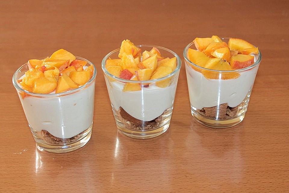 pfirsich quark dessert rezept mit bild von patty89. Black Bedroom Furniture Sets. Home Design Ideas