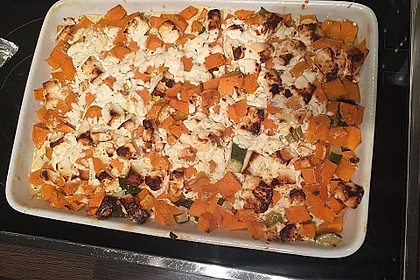 Süßkartoffel-Gratin mit Feta 11