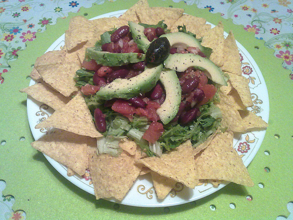 salat vegetarisch rezepte mit nacho salat. Black Bedroom Furniture Sets. Home Design Ideas