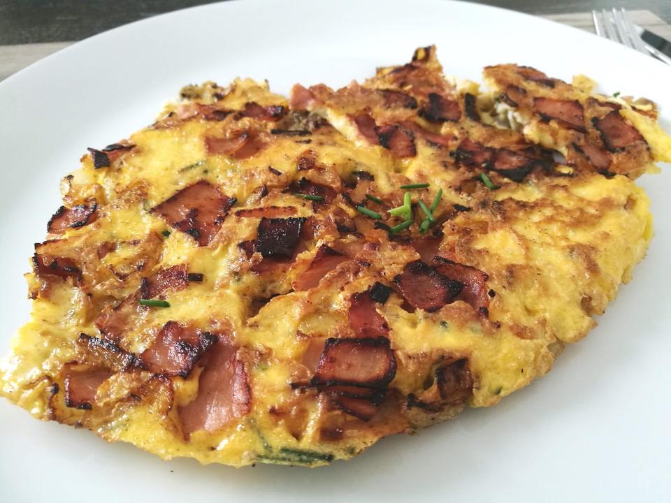 schinken k se omelette mit zitrone verfeinert von creativecookee. Black Bedroom Furniture Sets. Home Design Ideas