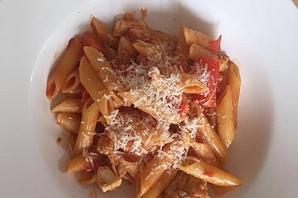 One Pot Penne mit Parmesan 16