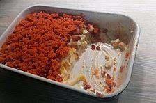 Eier-Seelachs-Schichtsalat