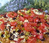 Flammkuchen griechische Art