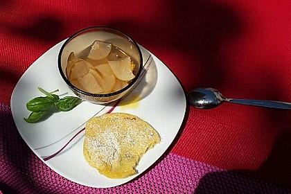 Basilikum Pancakes mit Birnenkompott 1