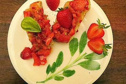 Chili-Erdbeer-Bruschetta vom Grill
