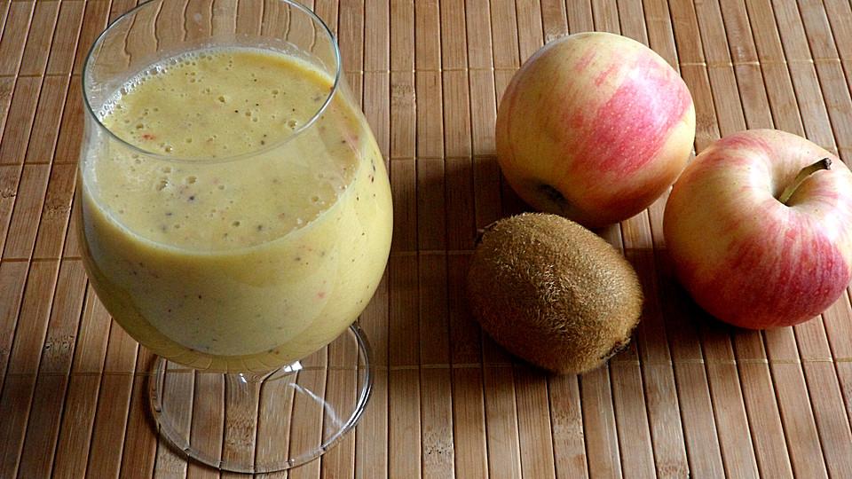 orange kiwi apfel smoothie frucht. Black Bedroom Furniture Sets. Home Design Ideas