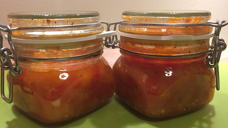 tomaten paprika salsa rezept mit bild von tanjasideenreich. Black Bedroom Furniture Sets. Home Design Ideas