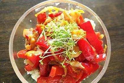 Bunte Paprika an Ingwer-Kokosmilch 3