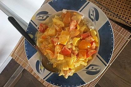 Bunte Paprika an Ingwer-Kokosmilch 2