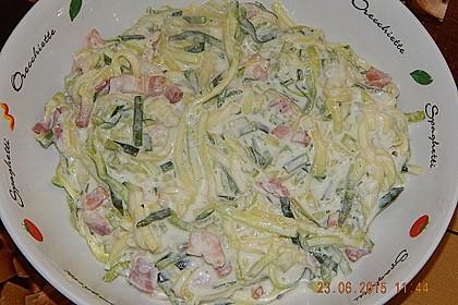 Zucchini-Spaghetti à la Carbonara 12