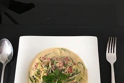 Zucchini-Spaghetti à la Carbonara 4