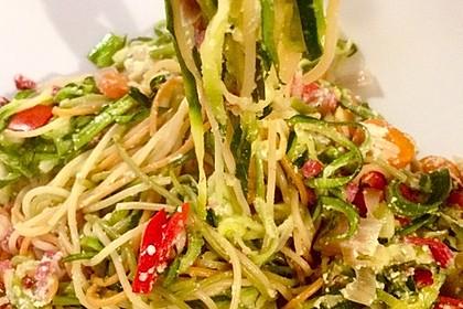 Zucchini-Spaghetti à la Carbonara 3