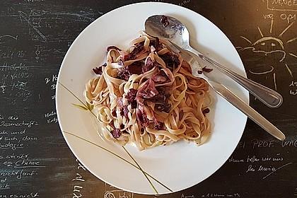 Pasta mit Radicchio und Prosciutto 2