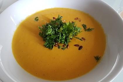 Süßkartoffel–Erdnuss-Suppe 1