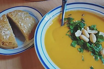 Süßkartoffel–Erdnuss-Suppe 8