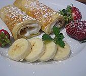 Palatschinken mit Topfen-Bananencreme