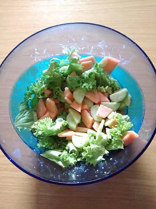 melonen gurken salat rezept mit bild von inkn63. Black Bedroom Furniture Sets. Home Design Ideas