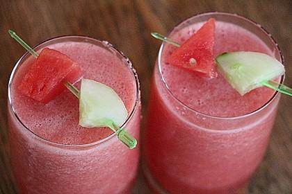 Erfrischender Wassermelonen-Gurken Slushy / Smoothie 1