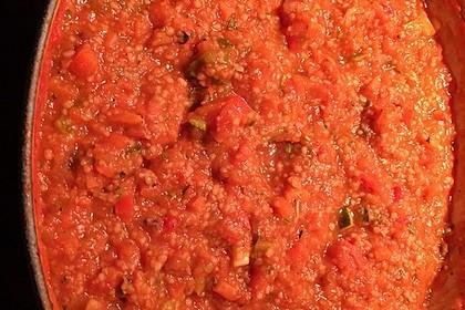 Alex vegane Coucous-Bolognese mit Spaghetti 1