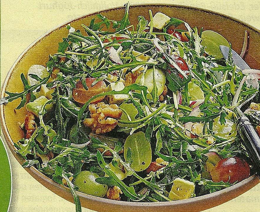 rauke salat mit avocado von serafina garant. Black Bedroom Furniture Sets. Home Design Ideas