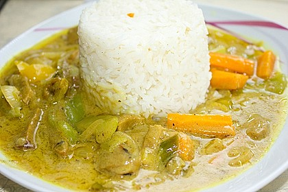 Alex' veganes Seitan-Auberginen-Curry