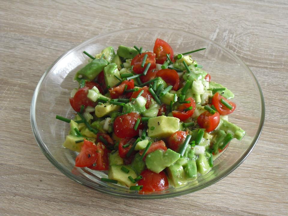 leckerer tomaten avocado salat rezept mit bild von gerald b. Black Bedroom Furniture Sets. Home Design Ideas