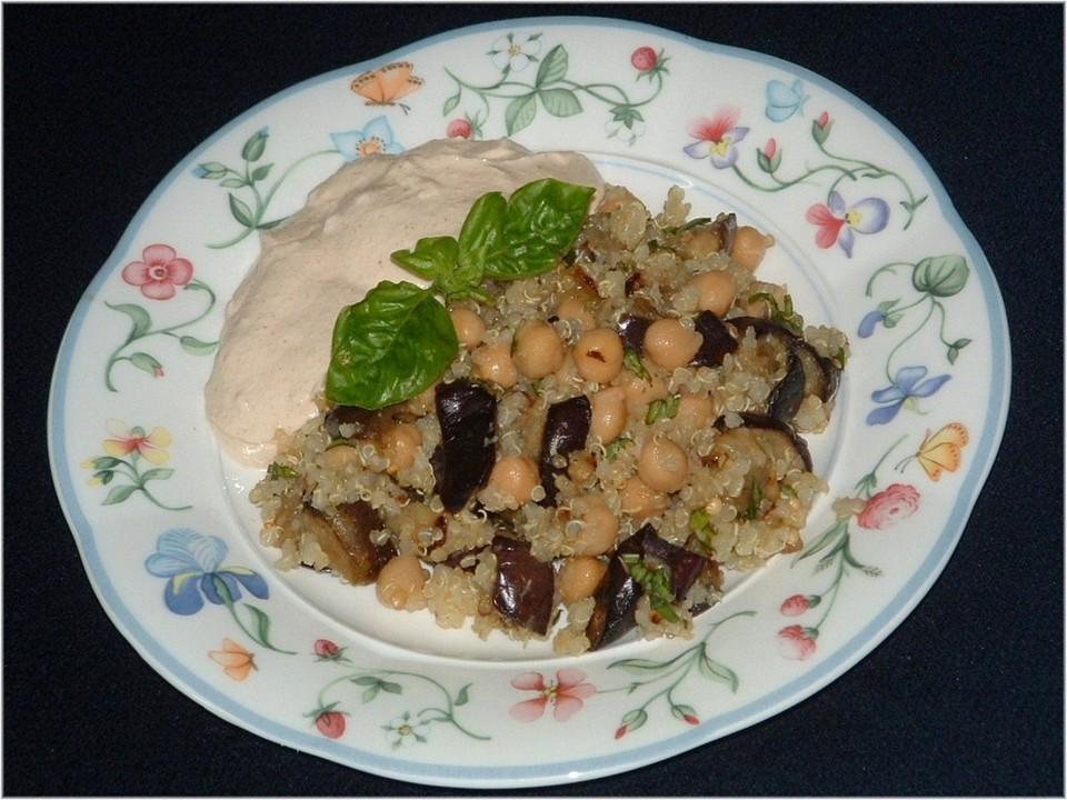quinoa auberginen salat mit sesamcreme von dolcezza118. Black Bedroom Furniture Sets. Home Design Ideas