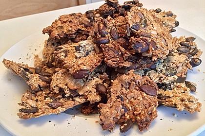 Kürbis-Pinien-Sonnenblumen-Weizenkleie-Cracker