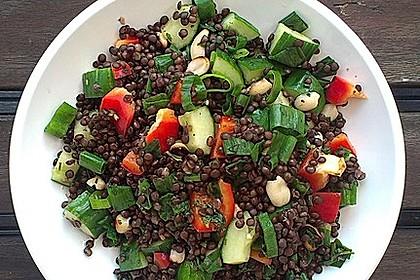 Salat beluga linsen