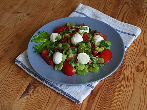 staudensellerie tomaten salat rezept mit bild von ars. Black Bedroom Furniture Sets. Home Design Ideas