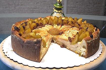 Urmelis saftiger Mirabellen-Apfel-Kuchen mit Mandelcreme