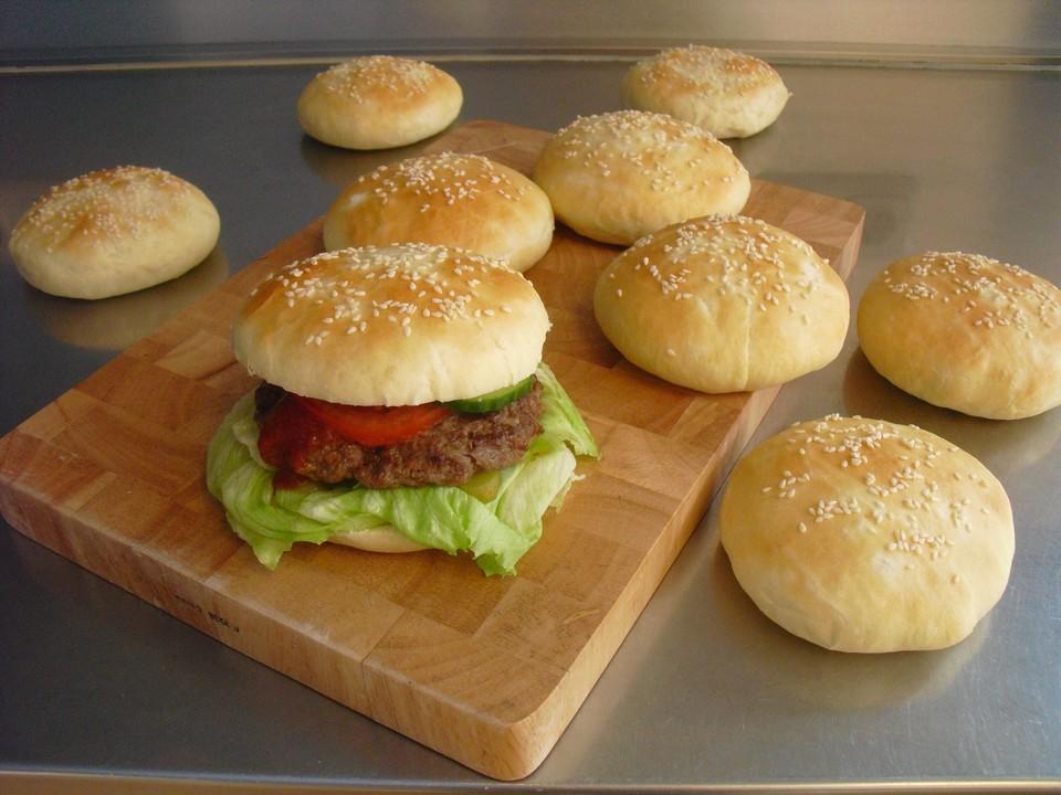 burger buns br tchen f r hamburger rezept mit bild. Black Bedroom Furniture Sets. Home Design Ideas