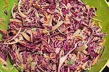 Rohkostsalat mit Rotkohl, Fenchel und Karotten