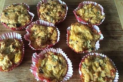 Pikante vegane Gemüse-Muffins 1
