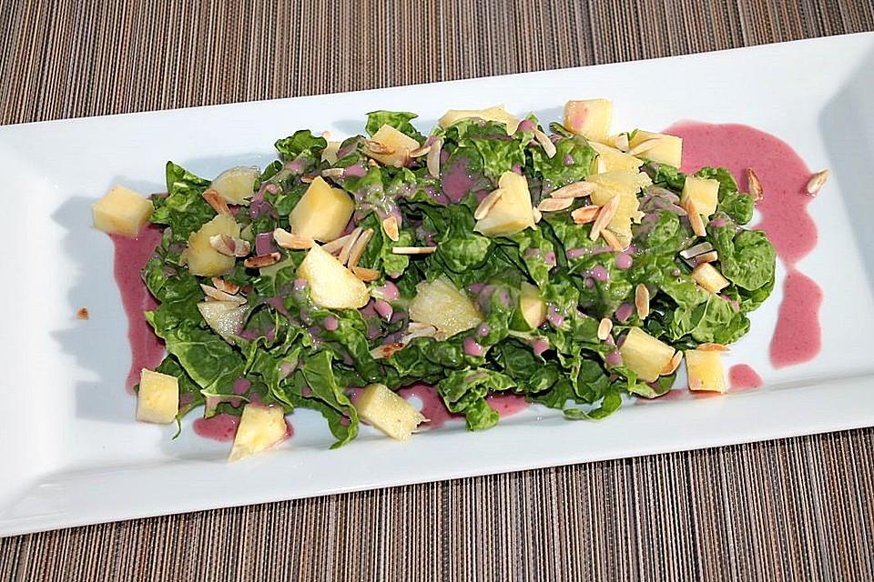 mangold ananas salat mit johannisbeer joghurt dressing rezept mit bild. Black Bedroom Furniture Sets. Home Design Ideas